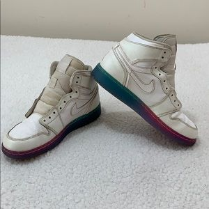 Nike Air Jordan 1 Retro High Premium Rainbow Shoes